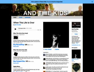 andthekidsmusic.bandcamp.com screenshot
