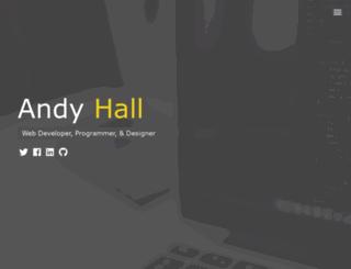 andy-hall.com screenshot