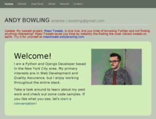 andybowling.com screenshot