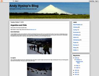 andyhyslopsblog.blogspot.com screenshot