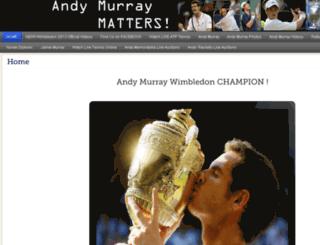 andymurraymatters.com screenshot