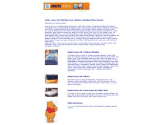 andyslinens.com screenshot