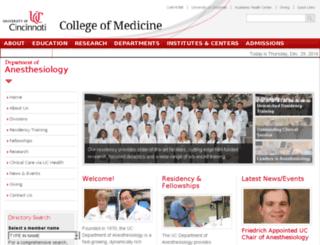anesth.uc.edu screenshot