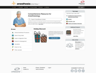 Access anesth unboundmedicine com  Anesthesia Central™ from Unbound