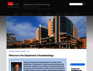 anesthesia.utmb.edu screenshot