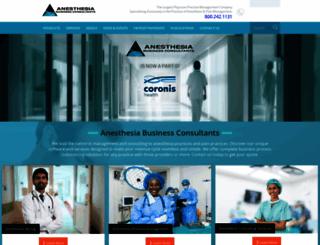 anesthesiallc.com screenshot