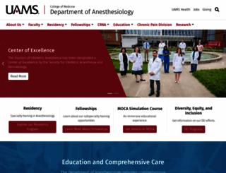 anesthesiology.uams.edu screenshot