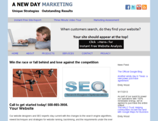 anewdaymarketing.com screenshot