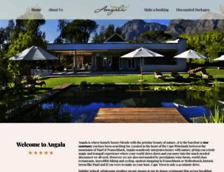 angala.co.za screenshot
