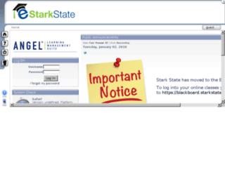 angel.starkstate.edu screenshot