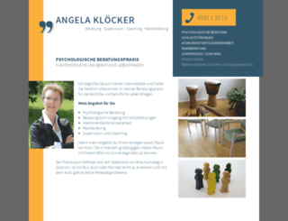 angela-kloecker.de screenshot