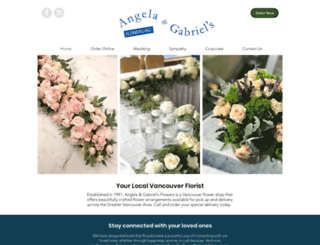 angelagabrielflowers.com screenshot