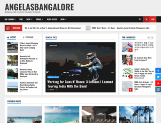 angelasbangalore.com screenshot