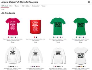 angelawatson.spreadshirt.com screenshot