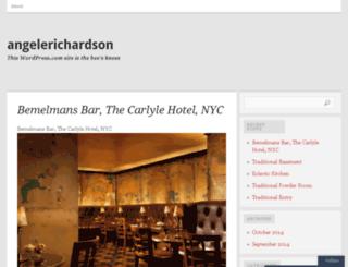 angelerichardson.wordpress.com screenshot