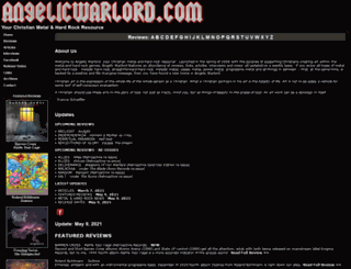 angelicwarlord.com screenshot