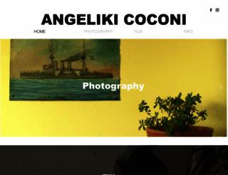 angelikicoconi.com screenshot