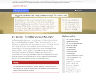 angeln-edersee.de screenshot