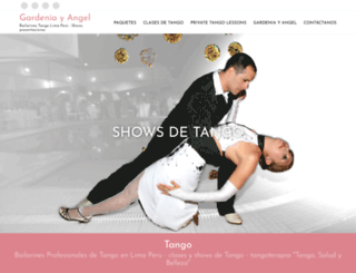 angelygardeniatango.com screenshot