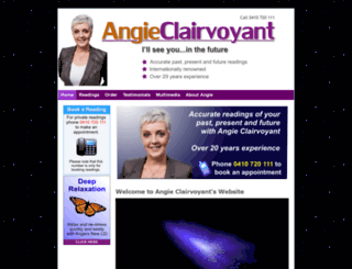 angieclairvoyant.com screenshot
