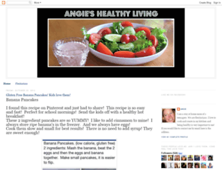 angieshealthylivingblog.blogspot.com screenshot