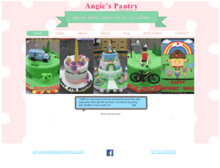 angiespantry.co.uk screenshot