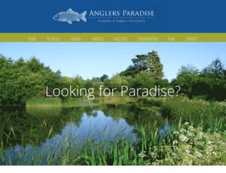 anglers-paradise.co.uk screenshot