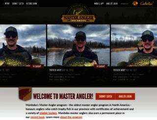anglers.travelmanitoba.com screenshot