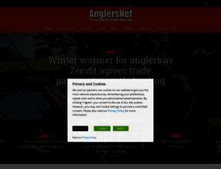 anglersnet.co.uk screenshot