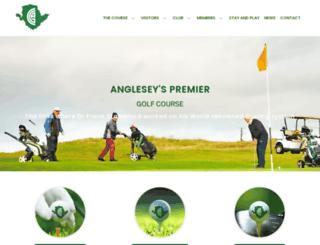angleseygolfclub.co.uk screenshot