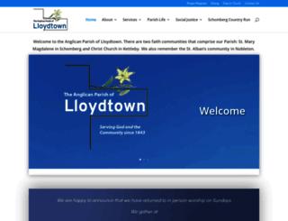 anglicanparishoflloydtown.com screenshot