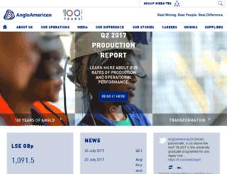 angloamerican.co.za screenshot