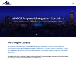 angor.co.za screenshot