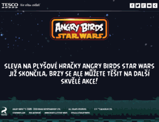 angrybirds.itesco.cz screenshot