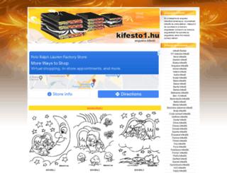angyalos-kifestok.kifesto1.hu screenshot