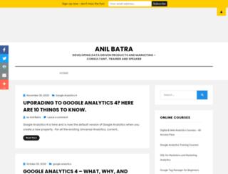 anilbatra.com screenshot