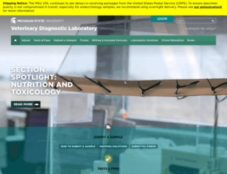 animalhealth.msu.edu screenshot