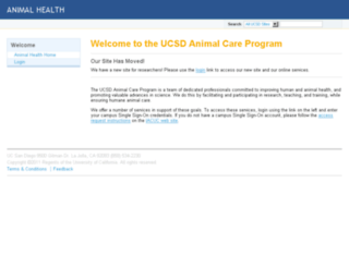 animalhealth.ucsd.edu screenshot
