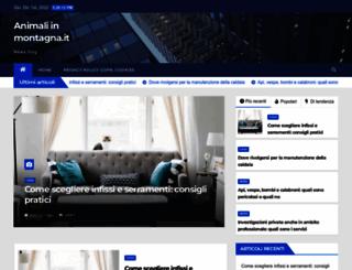 animaliinmontagna.it screenshot