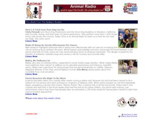 animalradio.com screenshot