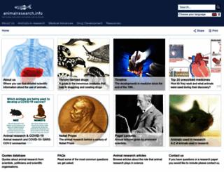 animalresearch.info screenshot