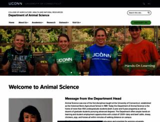 animalscience.uconn.edu screenshot