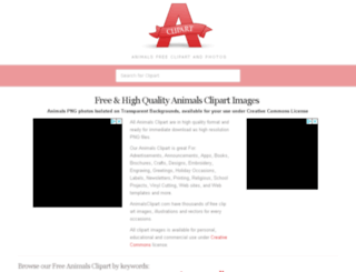 animalsclipart.com screenshot