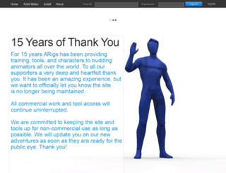 animationrigs.com screenshot