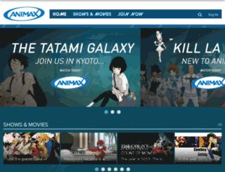 animaxtv.co.uk screenshot