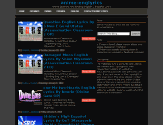 anime-englyrics.net screenshot