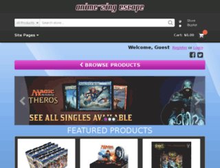 anime-zingescape.crystalcommerce.com screenshot