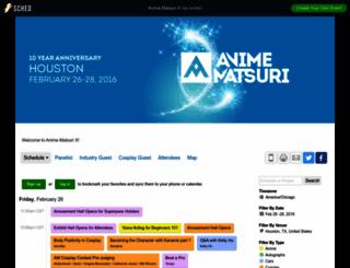 animematsurix2016.sched.org screenshot