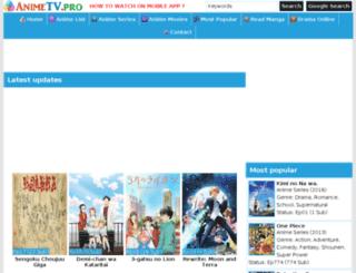 animetv.pro screenshot