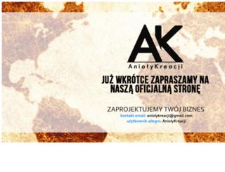 aniolykreacji.pl screenshot